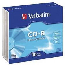 VERBATIM CD-R 700MB 52X SLIM 10 DATALIFE