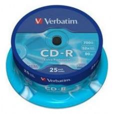 VERBATIM CD-R 700MB 52X BOBINA 25 DATALIFE