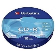 VERBATIM CD-R 700MB 52X BOBINA 10 DATALIFE