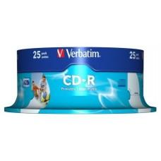 VERBATIM CD-R 700MB 52X BOBINA 25 IMPRIMIBLE INKJET