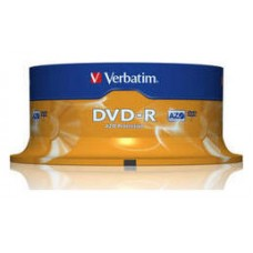 VERBATIM DVD-R 4.7GB 16X BOBINA 25 ADVANCED AZO