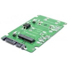 """Adaptador Convertidor M SATA SSD a SATA 2.5"""""""