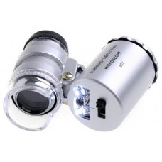 Mini Microscopio Monoculo con Luz Led y Lupa 60x