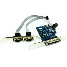 approx! PCIE1P2S tarjeta 2 Serie/1 Paralelo PCI-E
