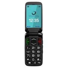 """Brigmton BTM-3 Flip 2.4"""" 92g Negro Teléfono para personas mayores"""