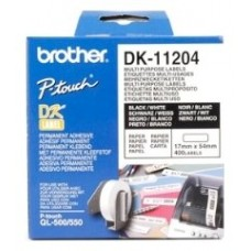 BROTHER ETIQUETA PRECORTADA BLANCA PAPEL 17X54MM 400