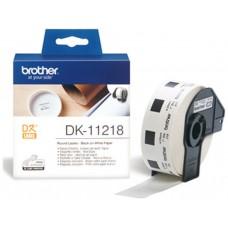 Brother DK-11218 Round Labels Blanco DK