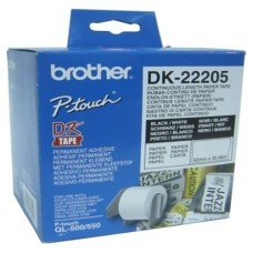 BROTHER CINTA CONTINUA BLANCA PAPEL 62MM 30,48M